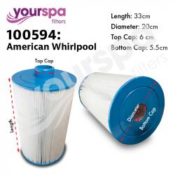 Filter - American Whirlpool - 400/800 Series ( Long ) 100594