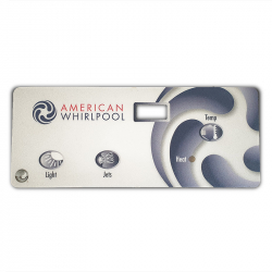 Overlay - American Whilrpool - 3 Button - 1 Pump