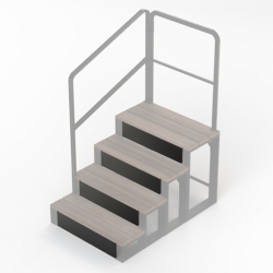 Step inserts for 4 tier steps