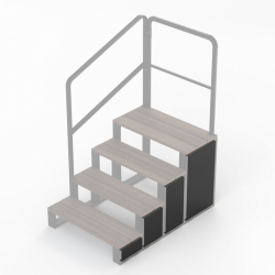 Side plates for 4 tier steps