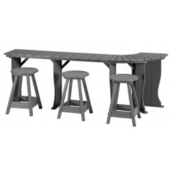 "Table ( 71"" 17"" Deep Monterey Grey ) ( left Hand cut for lifter )"