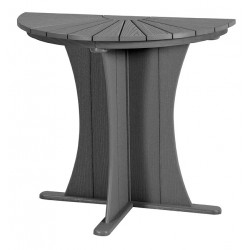 "Half Round Table ( 36"" free standing Monterey Grey )"