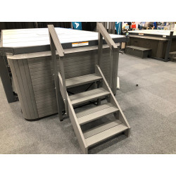 A & B Swimspa Steps - Straight-Monterey Grey
