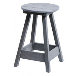"Bar Stool 24"" High Monterey Grey"