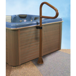 "Spa Ease 54"" 2 peice Safety Rail Deck/Under tub Mount-Black"