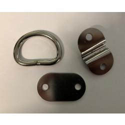 Hook - Oars Kit - D Shape - Stainless Steele